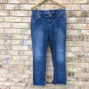 Inc Denim Jeans Straight Leg Curvy Fit Distressed